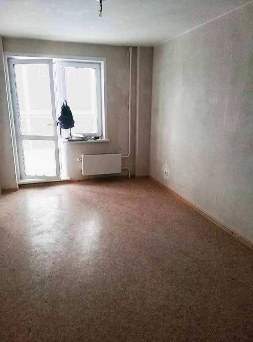 Главная комната с прекрасным видом. Позади будет кухня, переходящая в гостиную