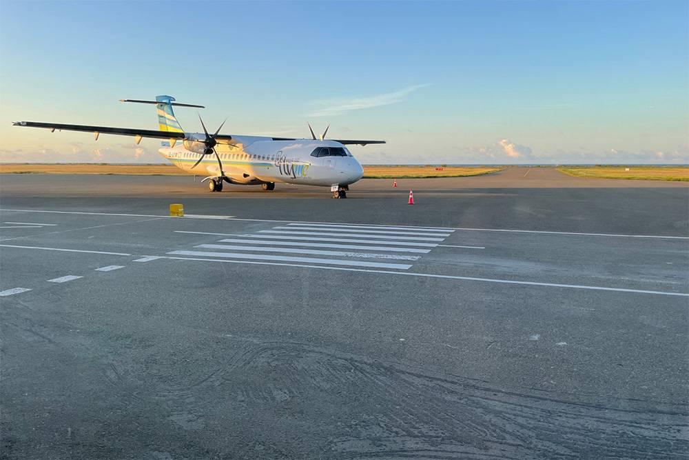 Такие самолеты летают из международного аэропорта на другие острова Мальдив