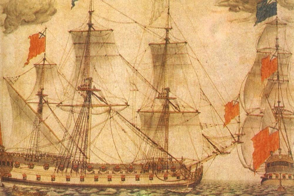 Привосстановлении деревянной части пользовались рисунком — акварелью Питера Бергмана. Источник:wikipedia.org