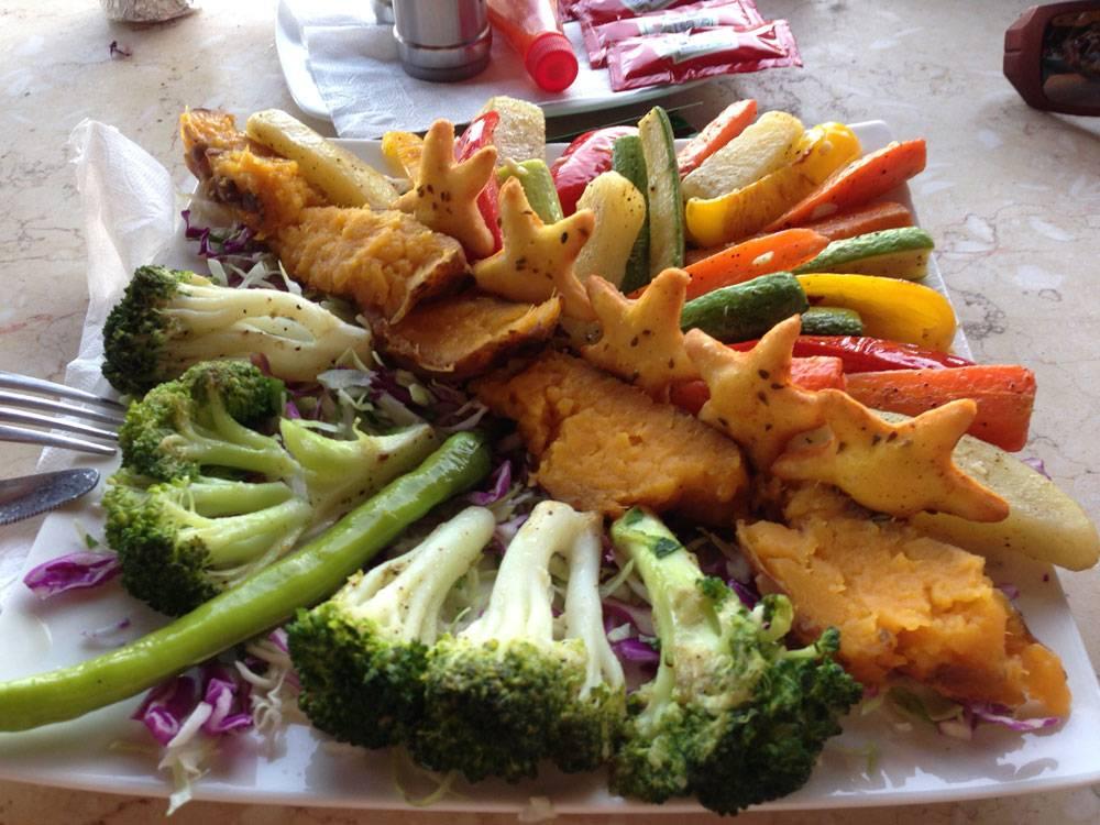 Мои любимые овощи гриль — батат, брокколи, картошка, цуккини, морковь, спаржа, капуста — стоят 55 фунтов (200<span class=ruble>Р</span>)