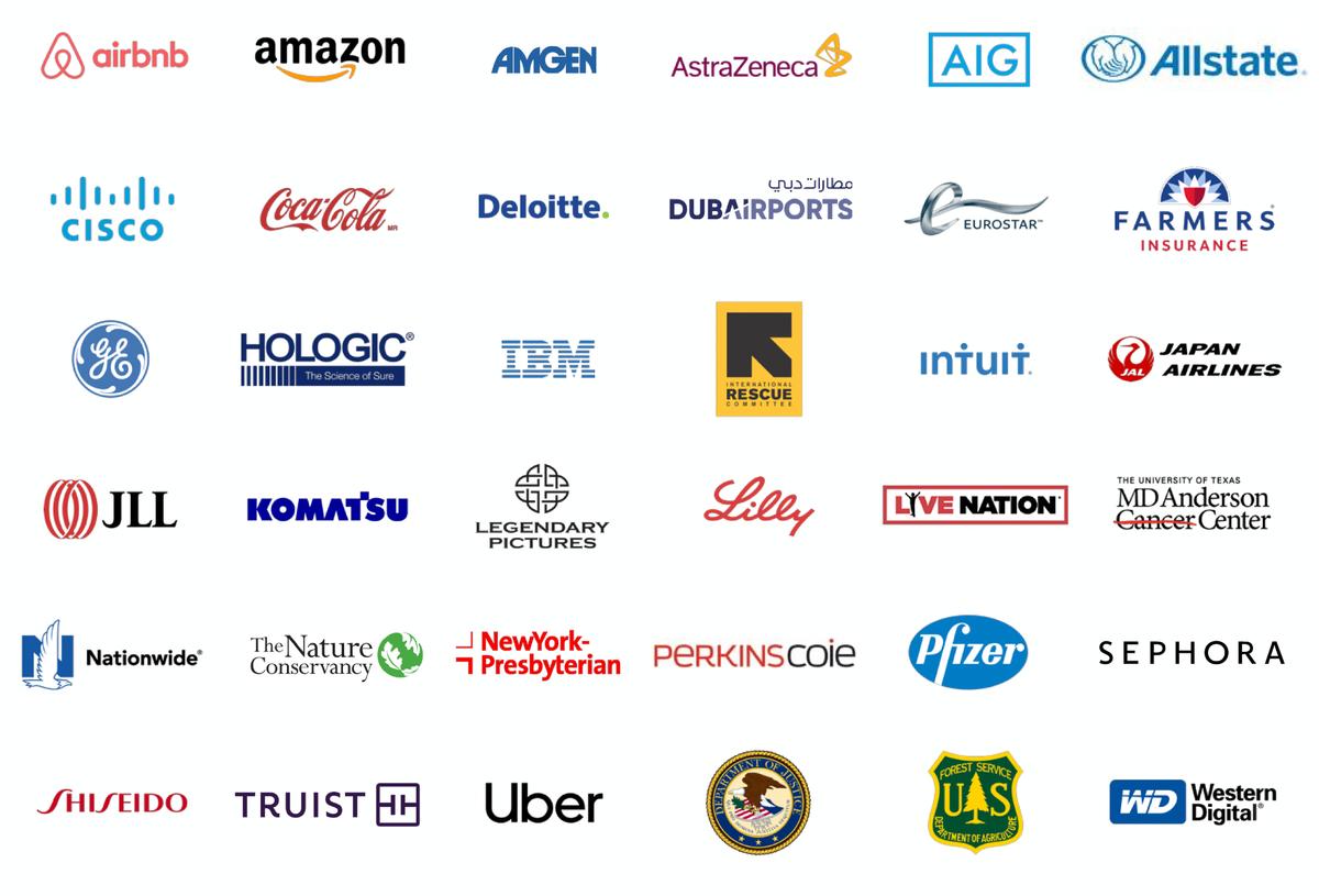 Логотипы клиентов компании. Источник: презентация компании, слайд19