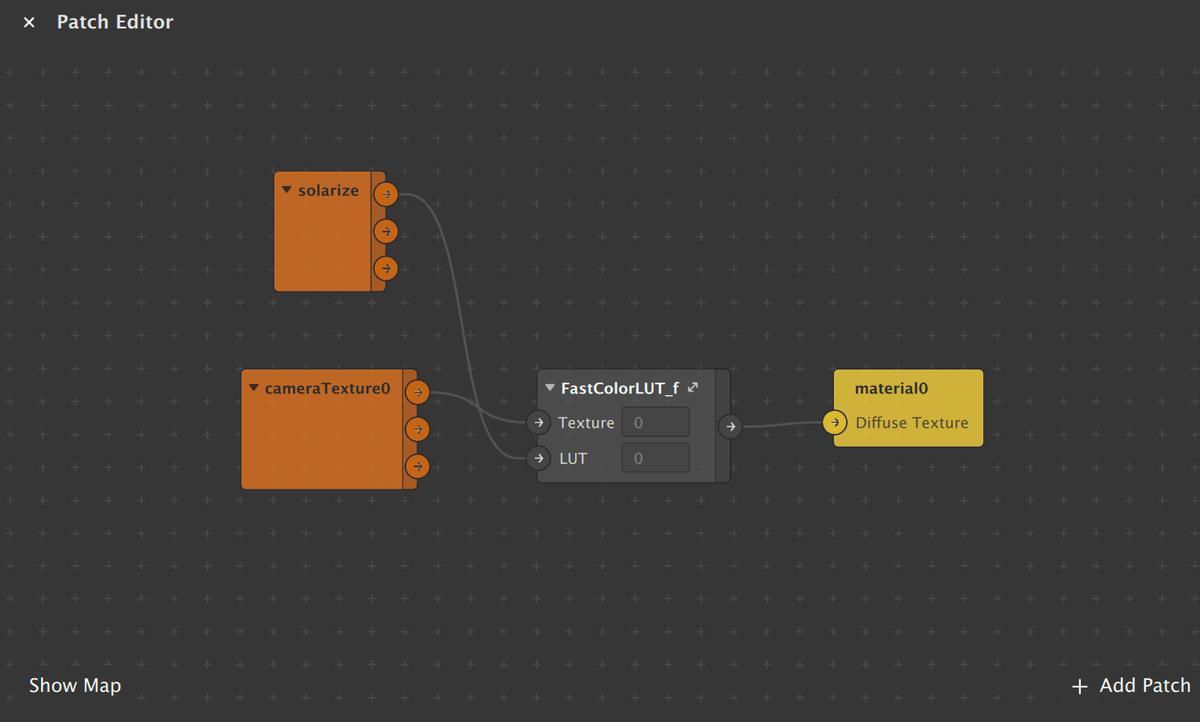 Вот такая схема соединений должна получиться. Solarize — это моя лат-таблица с цветокоррекцией