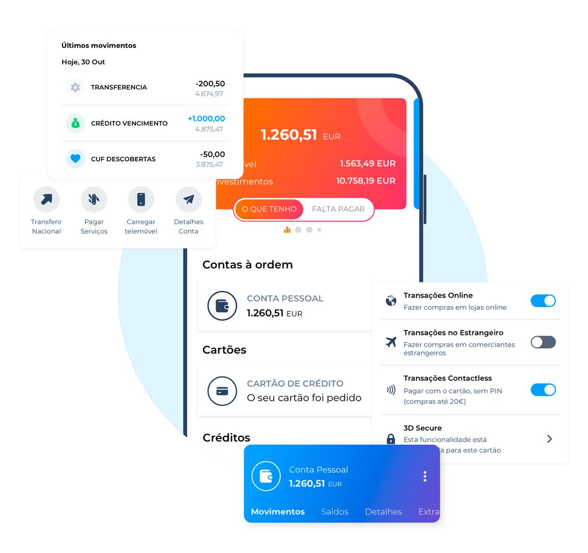 У Activo Bank удобное мобильное приложение: в нем можно, например, оплачивать коммунальные услуги, переводить деньги, устанавливать лимиты и отслеживать траты. Скриншот сделала на сайте банка, потомучто само приложение делать скриншоты запрещает