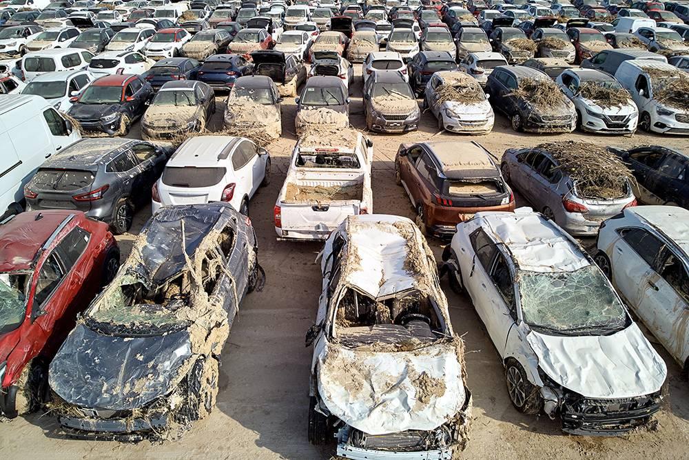Возможно, некоторые из этих затопленных машин попытаются восстановить и продать. Источник: Alex Tihonovs / Shutterstock
