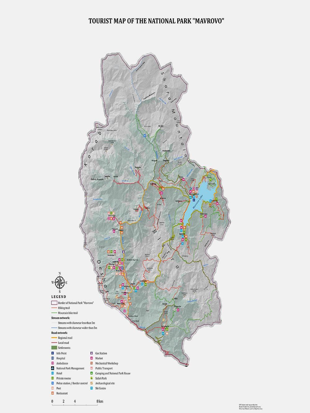 Карта национального парка «Маврово». Источник: np.mavrovo.mk