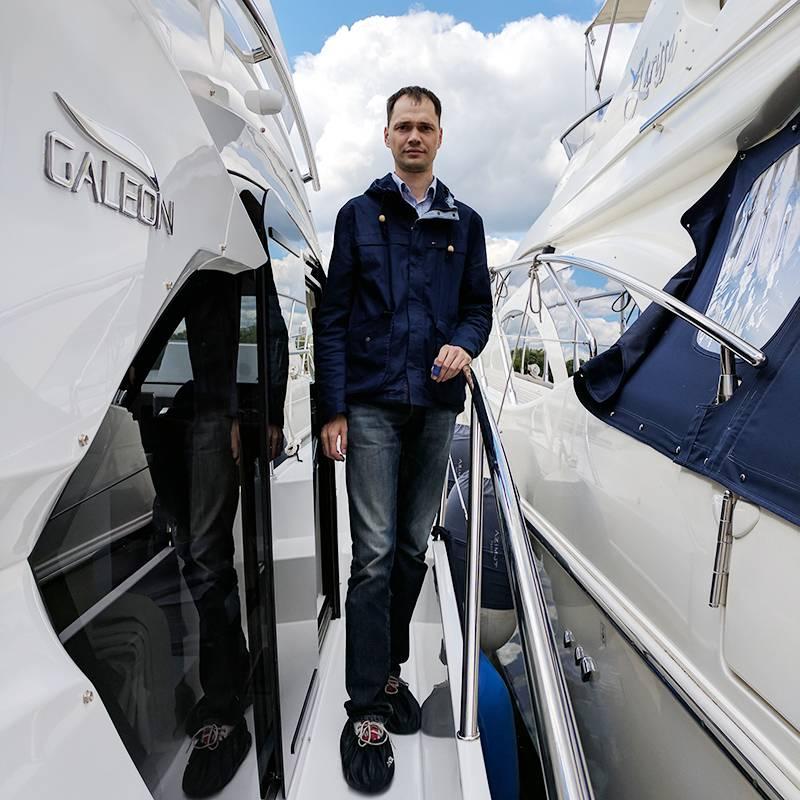 Я на выставке Moscow Yacht Show в Москве в 2017году