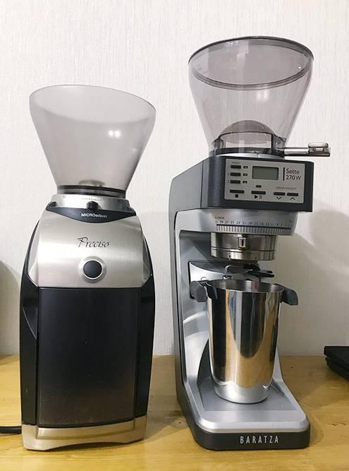 Baratza Preciso и Baratza Sette 270W — эти кофемолки считаются полупрофессиональными, их довольно часто используют в кофейнях с небольшим потоком. Для дома они слишком крутые: первая раньше стоила 26 тысяч, вторая стоит около 40 тысяч