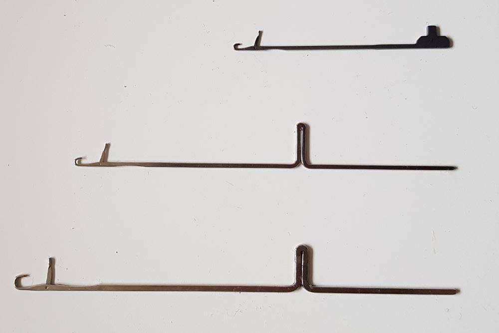 Сверху вниз: иглы10, 5 и3-го класса