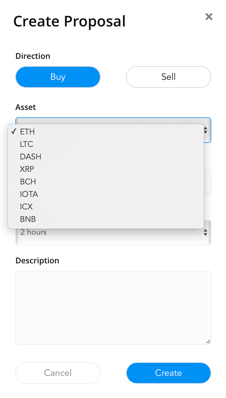 Активов для инвестиций в бета-версии немного: только восемь криптовалют без биткоина