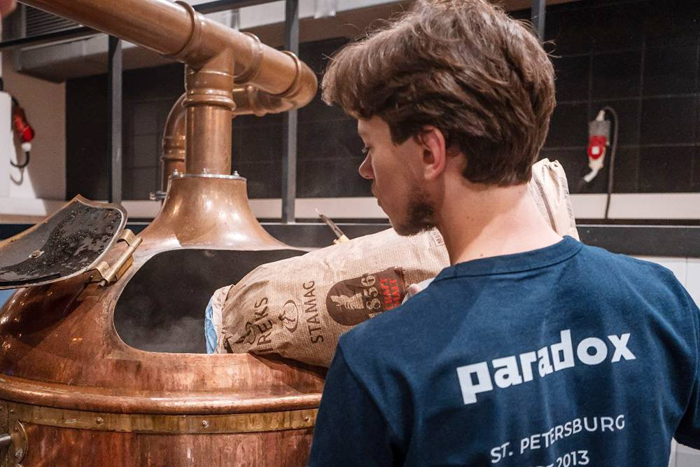 Варка пива Paradox вместе с пивоварней LoveCraft