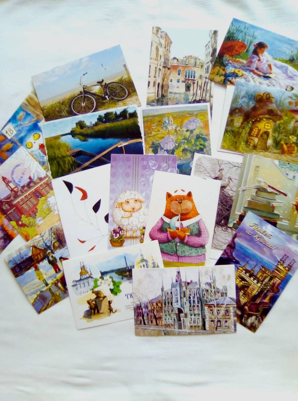Это только десятая часть моей коллекции открыток
