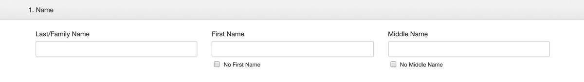 Раздел анкеты про имя. Фамилию и имя нужно переписать с загранпаспорта