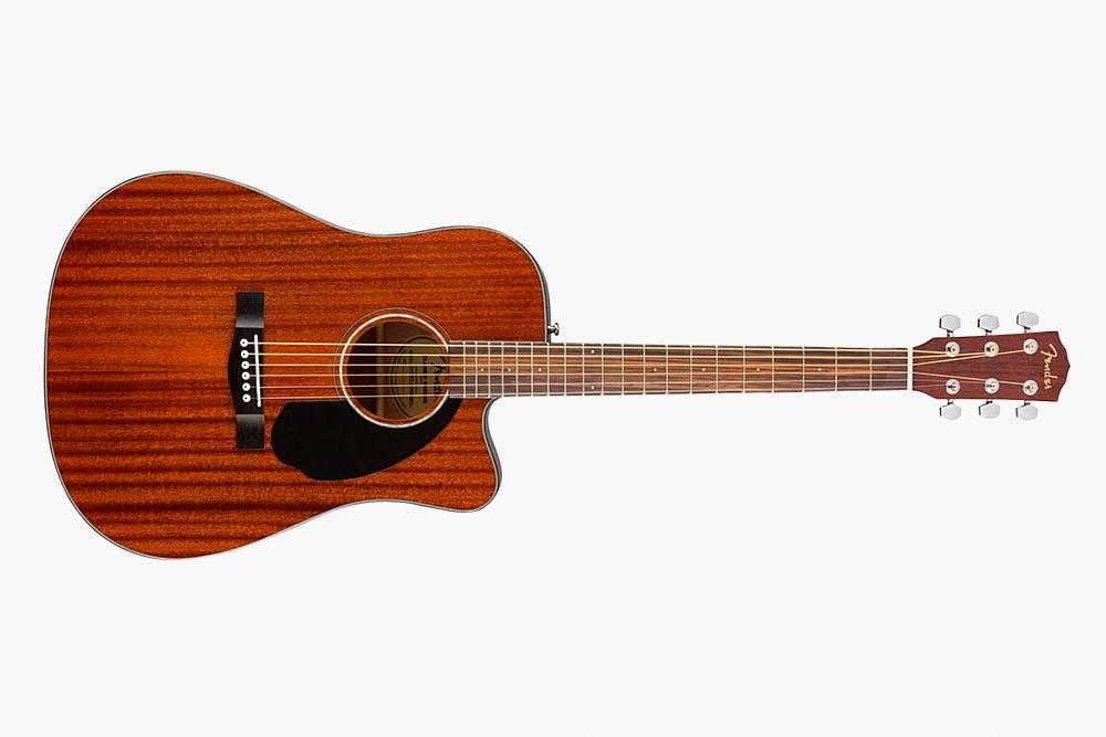 У некоторых акустических гитар есть вырез в нижней части деки — длялучшего доступа к высоким ладам. Источник: «Музторг»