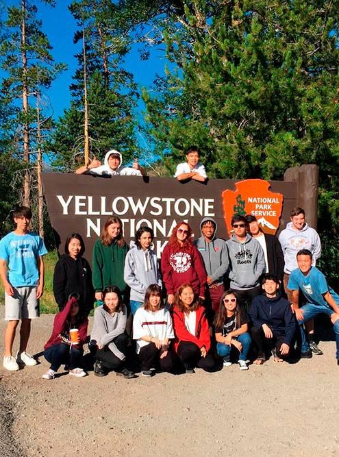 Посещение Йеллоустоуна синостранными студентами