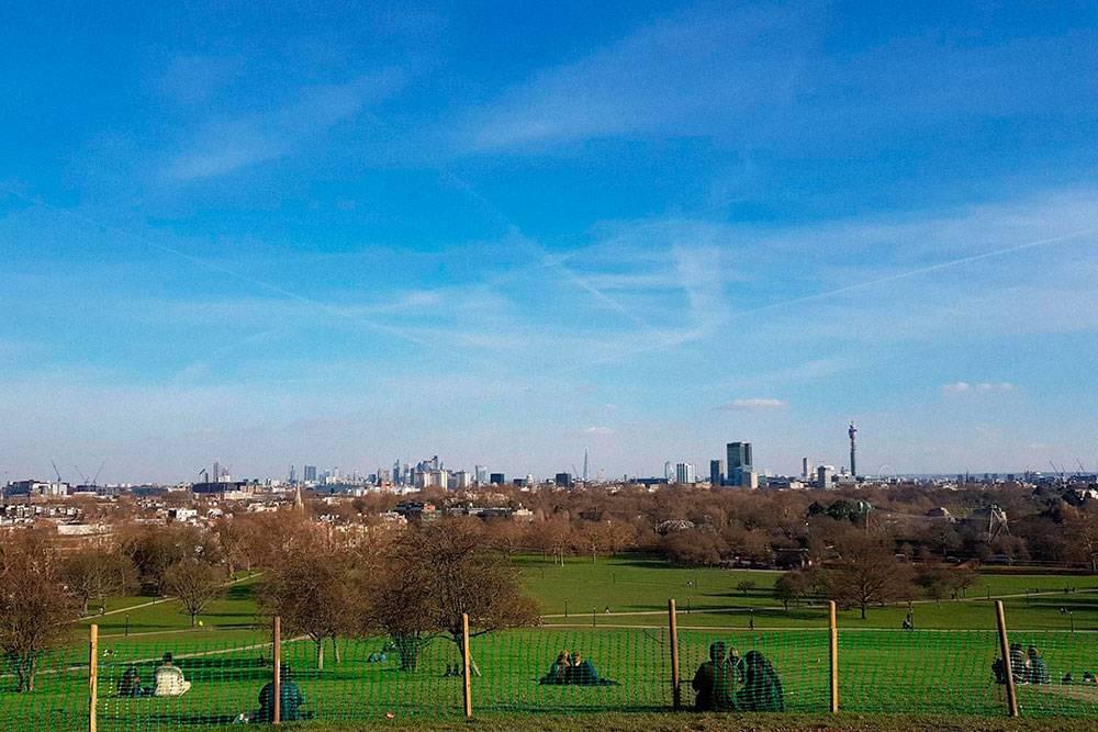 Вид на Лондон с холма Примроуз-хил