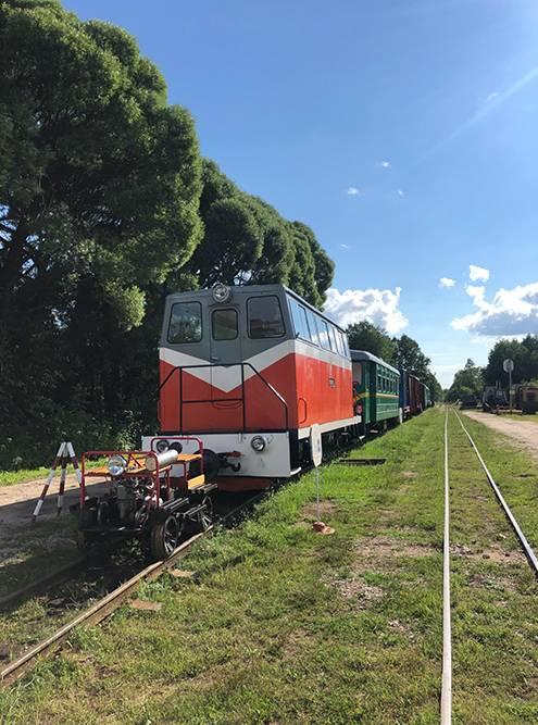 Автомотриса ТУ-6П в музее узкоколейной железной дороги
