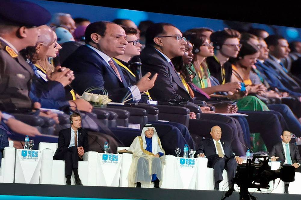 На одной из дискуссий мне досталось место в первом ряду, в нескольких метрах от президента Египта