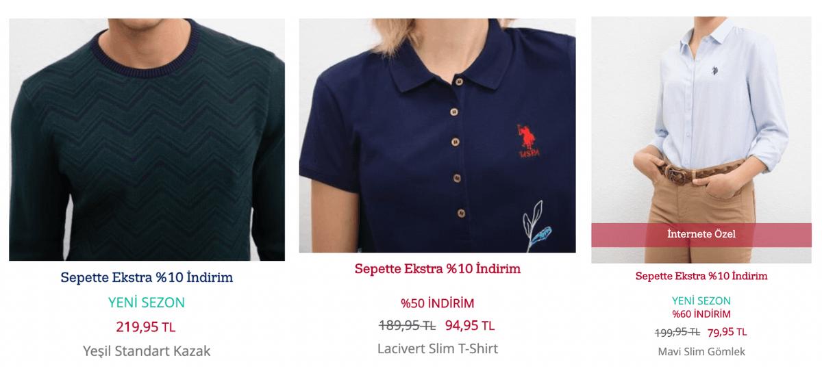 Цены в магазине U.S.Polo в Самсуне: свитер — 2600<span class=ruble>Р</span>, поло — 1140<span class=ruble>Р</span>, рубашка — 1160<span class=ruble>Р</span>. Для&nbsp;сравнения, цены в ТЦ «Авиапарк» в Москве: свитер — 5900<span class=ruble>Р</span>, поло от 2500<span class=ruble>Р</span>, рубашки от 4000<span class=ruble>Р</span>
