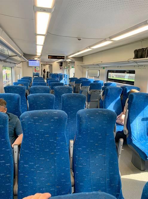 В пустом вагоне «Ласточки» было очень тихо, никто не ходил. Как будто я ехала одна во всем поезде