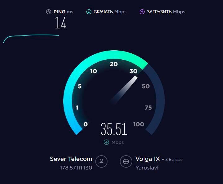 У меня «Спидтест» показывает хорошую скорость и качество интернета