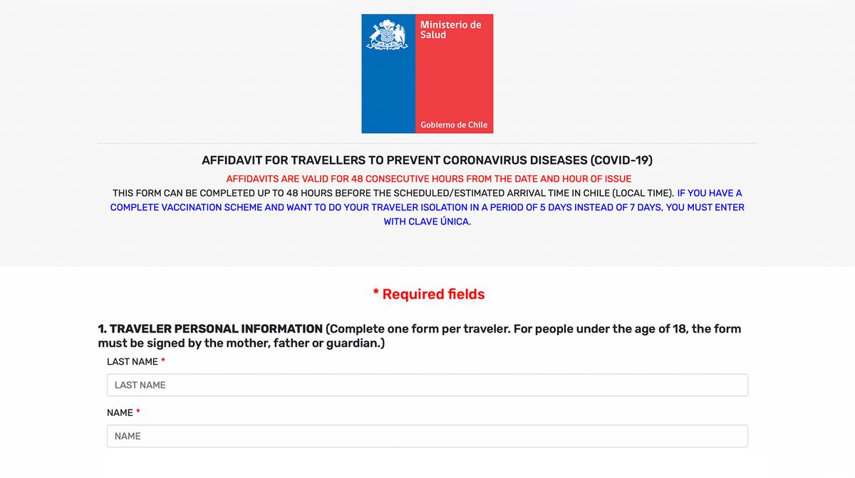 Есть две версии анкеты дляиностранцев — на английском и испанском языках