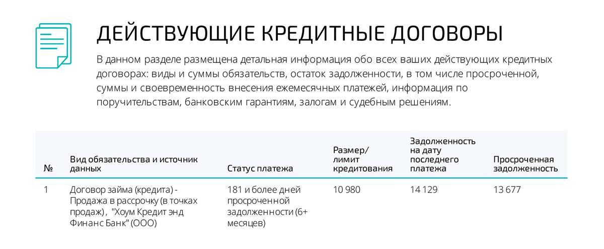 В кредитном отчете из ОКБ указано, что долг составил&nbsp;14 129<span class=ruble>Р</span>