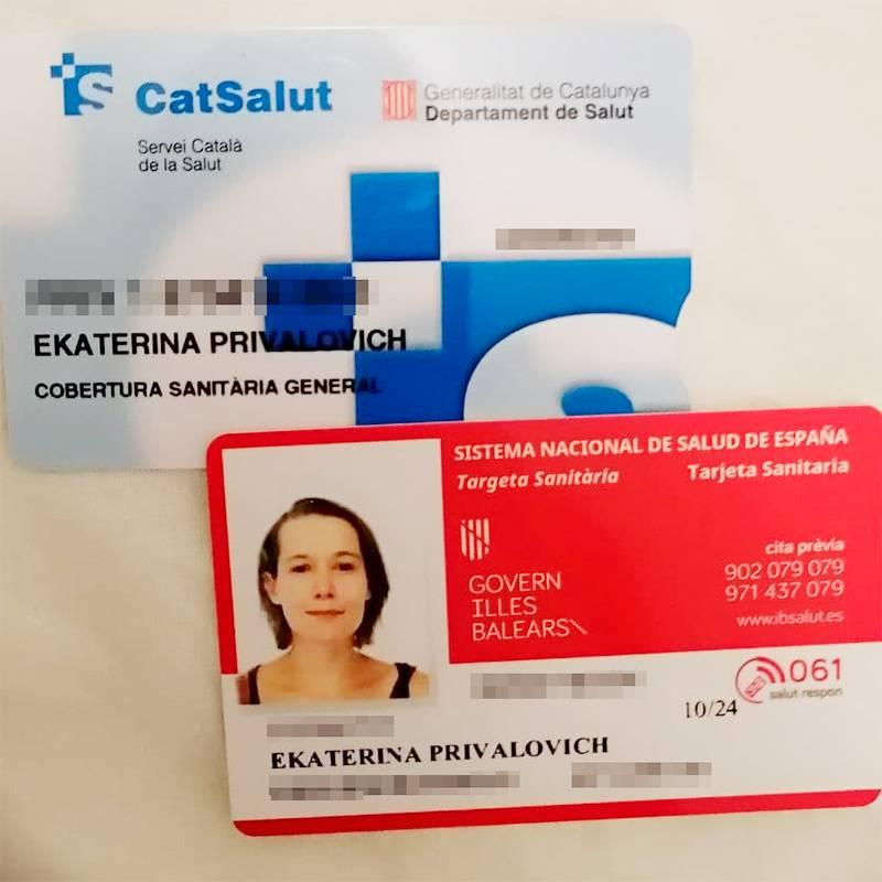 Так выглядят медкарты в разных регионах. В Каталонии медицинская система называлась CatSalut. На Балеарах, соответственно, IBSalut