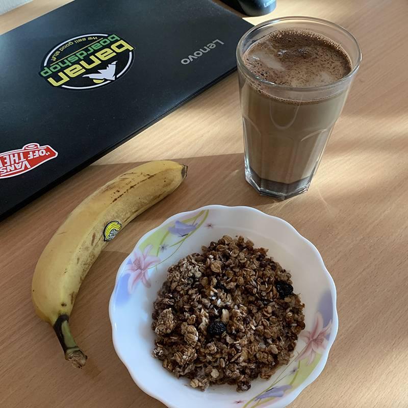 Мой типичный завтрак