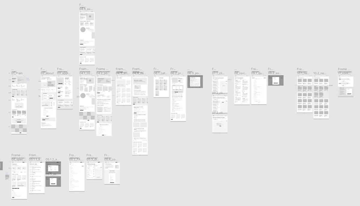 Прототип сайта в программе Figma