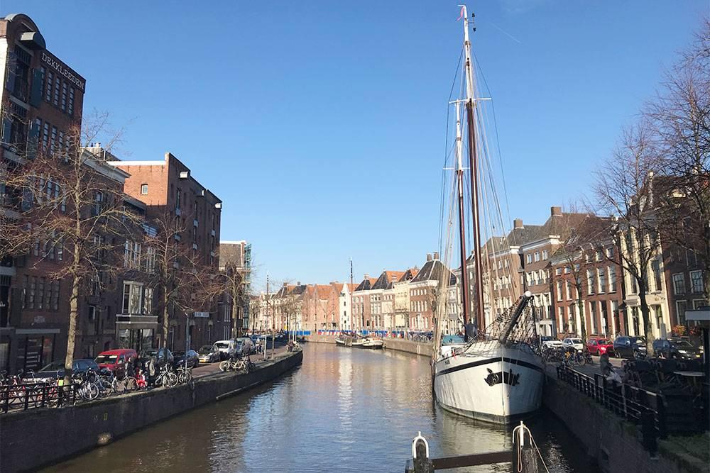 Один из крупных каналов в Гронингене