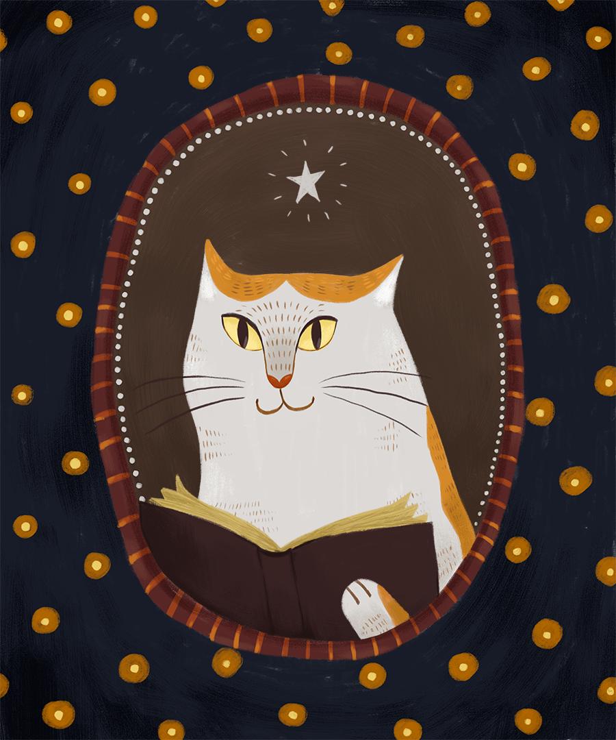 Портрет одного из главных персонажей «Волшебника Лагрикома» — кота Флома, родившийся из чистой любви Маши Уховой