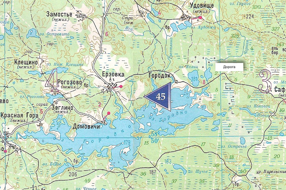 В атласе видно, что проселочная грунтовая дорога есть от Городка до Сафоново. Но в каком она состоянии — неизвестно. Если планируете поездку по глухим местам, предусмотрите запасные варианты объезда и места дляночевок
