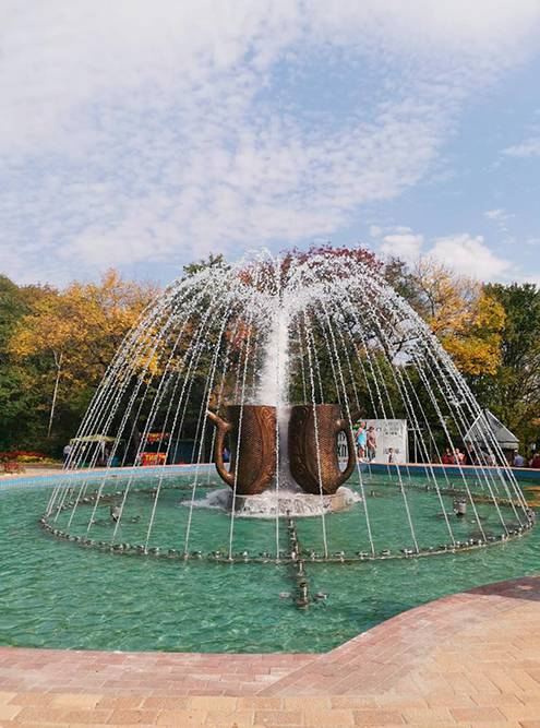 Светомузыкальный фонтан на площадке Смирновского источника