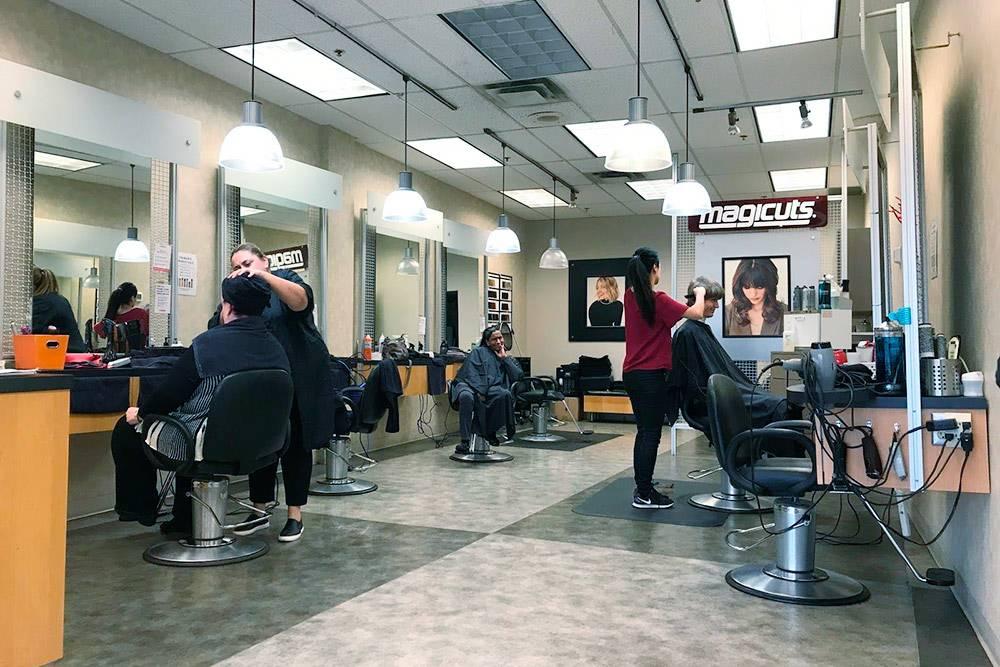Простая парикмахерская в нашем районе
