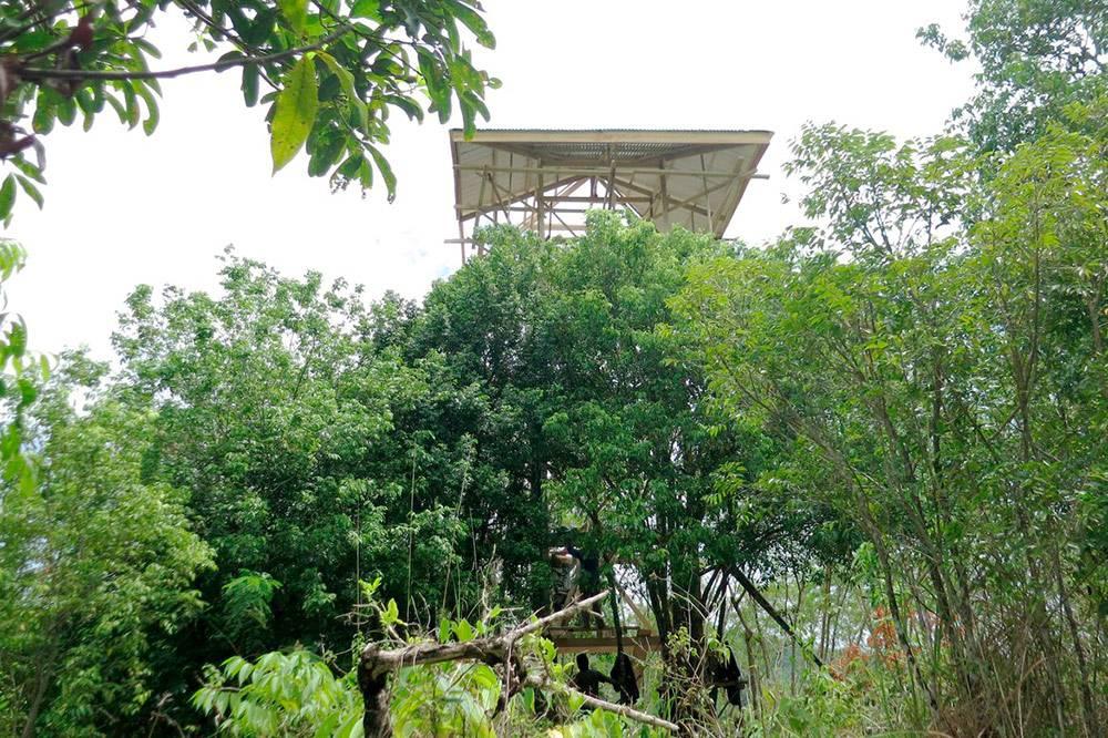 Моя смотровая вышка на земле в центре острова. С нее открывается шикарный панорамный вид, в принципе и жить на ней можно