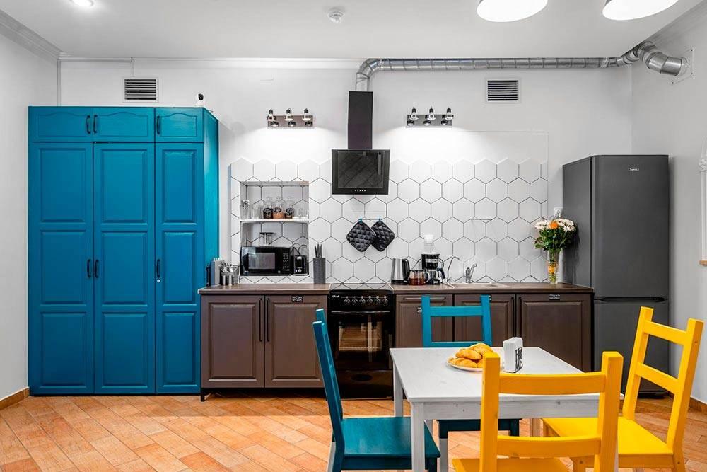Так выглядела кухня вмоем хостеле