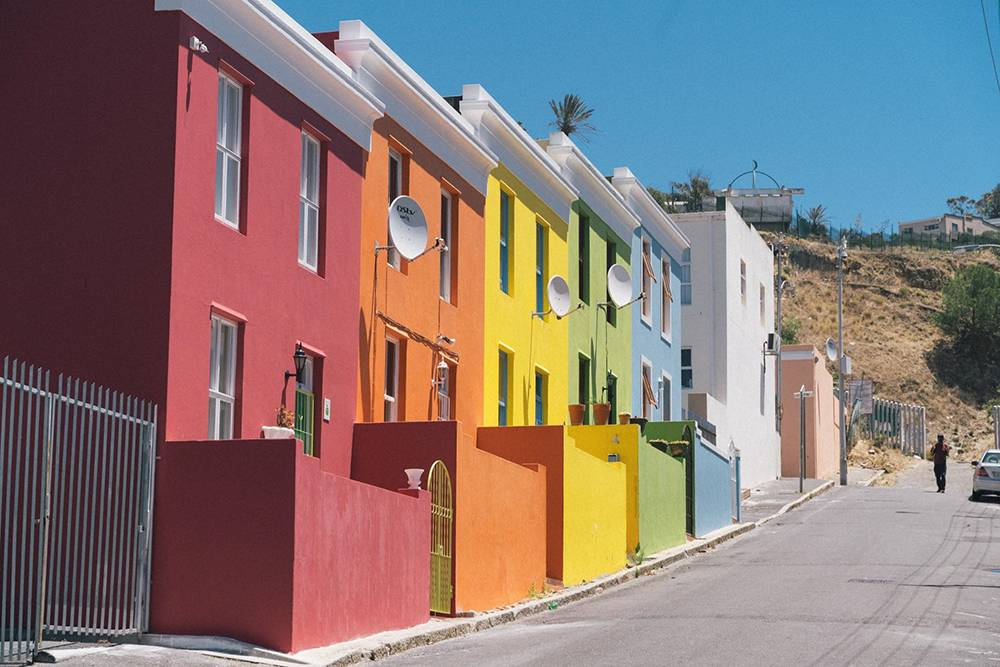 Цветные домики врайоне Бо-Каап