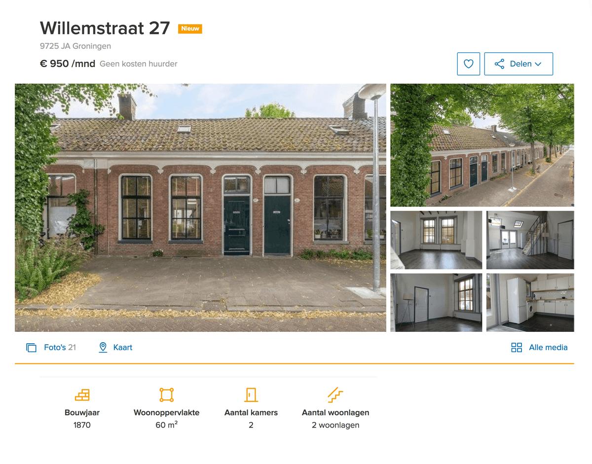 Квартира за 950€ (70 200<span class=ruble>Р</span>) в месяц площадью 60 м² сдается с напольным покрытием