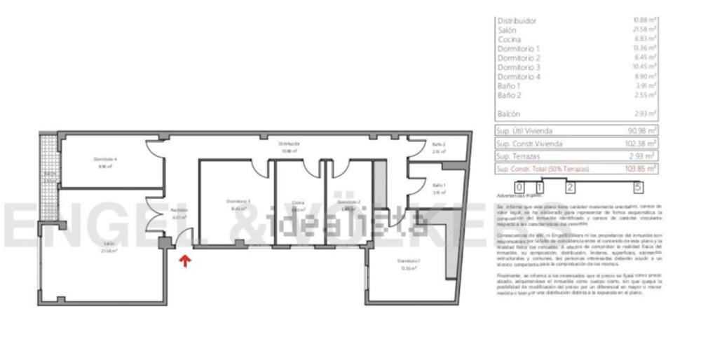 Примерно так выглядит планировка традиционных валенсийских квартир