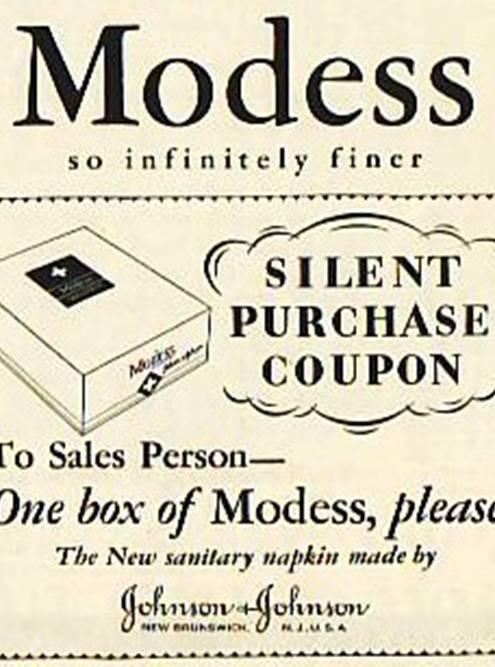 Там выглядели купоны на «тихую» покупку прокладок «Модесс». Источник: Kilmer House