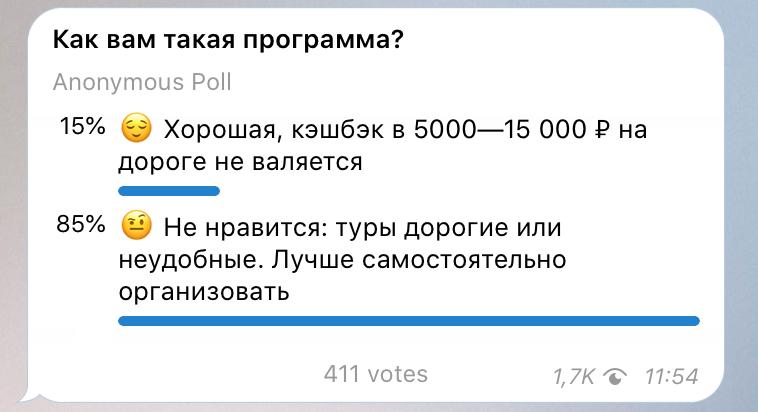 Читатели нашего телеграм-канала не очень воодушевлены государственной инициативой