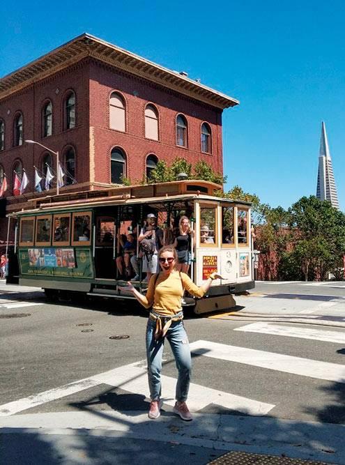Канатный трамвай — одна из достопримечательностей Сан-Франциско