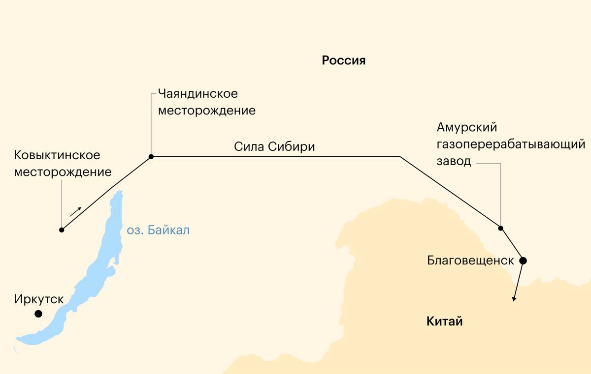 Расположение Амурского ГПЗ. Источник: «Газпром»