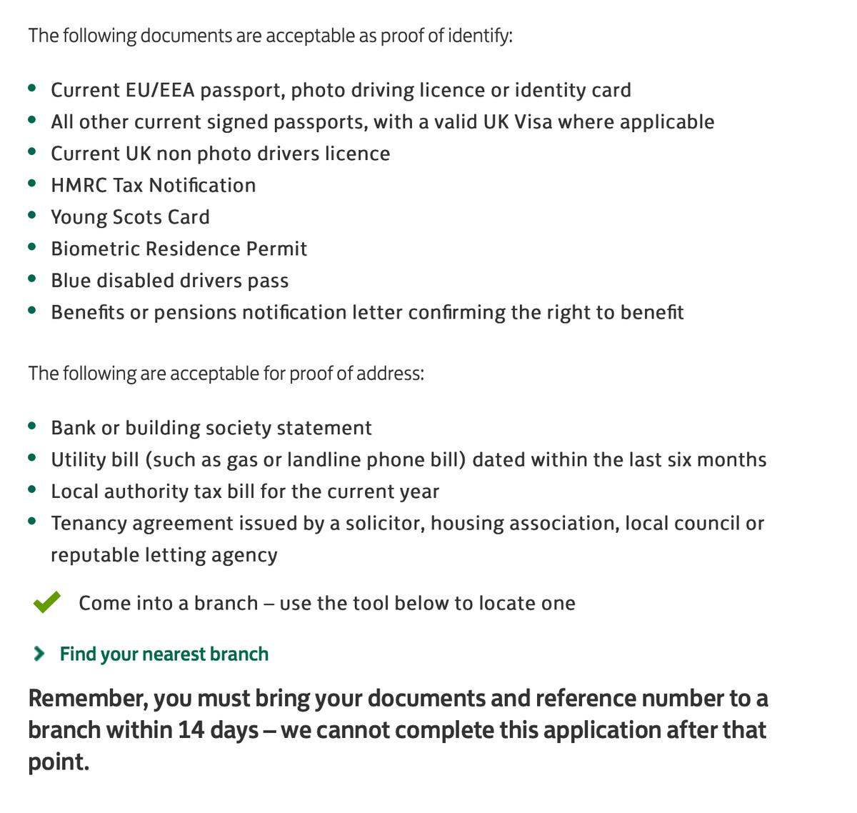 Список документов, которые нужны для подтверждения личности при открытии счета в банке