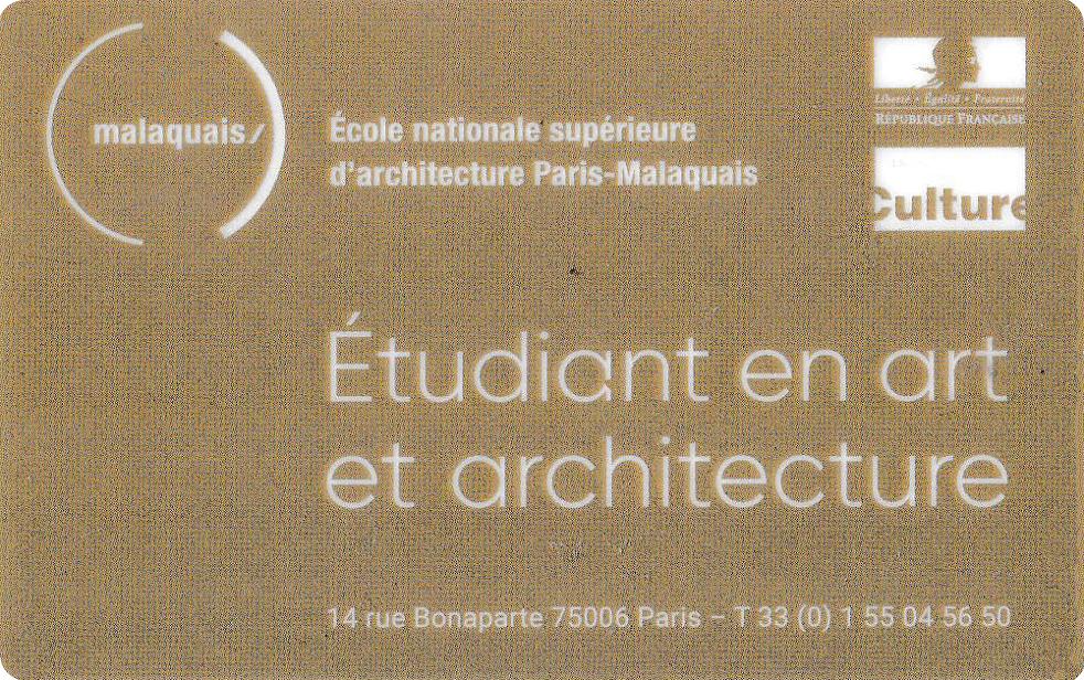 Золотой студенческий архитектора
