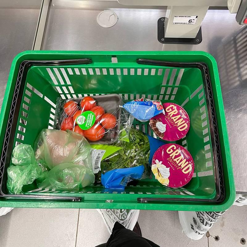 Купила продукты к ужину в «Перекрестке»