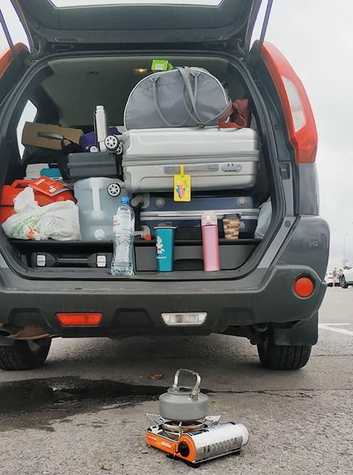 Так выглядит вместительный багажник в начале путешествия