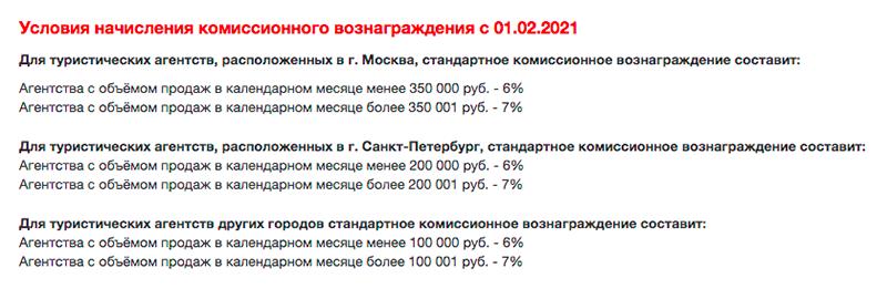 У туроператора «Библио-глобус» максимальная комиссия — 7%. Источник: «Библио-глобус»