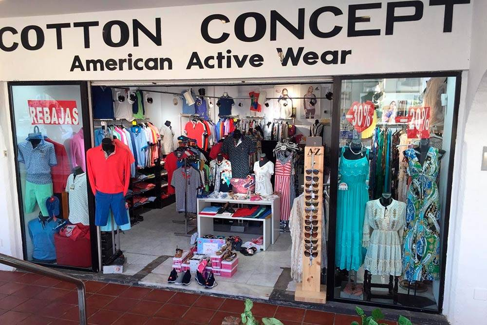 Магазин одежды в порту Бенальмадены