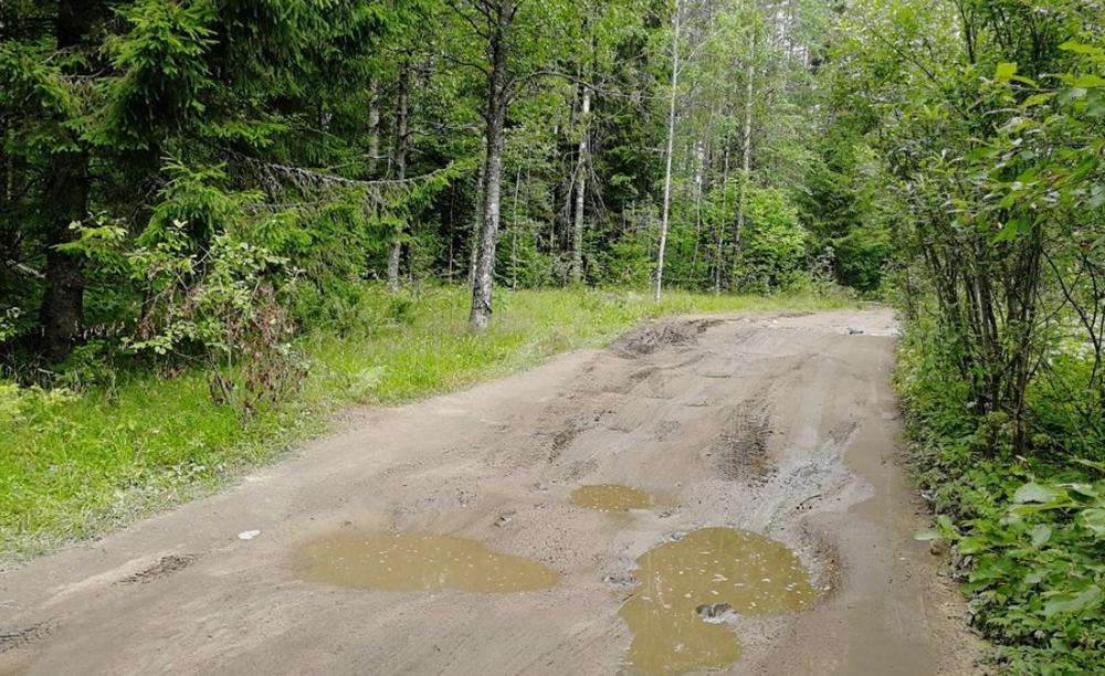 На фото видна проходимая часть пути к водопадам Юканкоски. Дальше — яма на яме